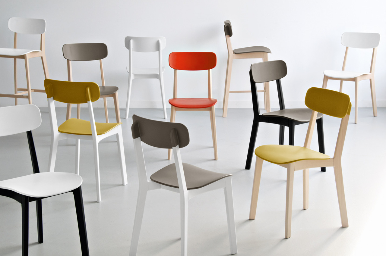 Emmeci agency calligaris for Table et chaise moderne